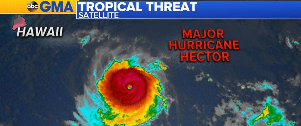 VIDEO: Hurricane Hector heads toward Hawaii