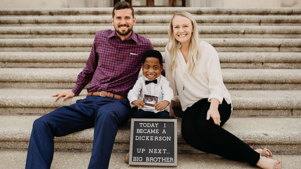 Boy reveals he's going to be a big brother on the same day he's