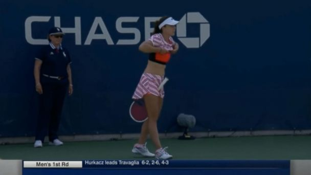 Controversy after female tennis player punished at US Open