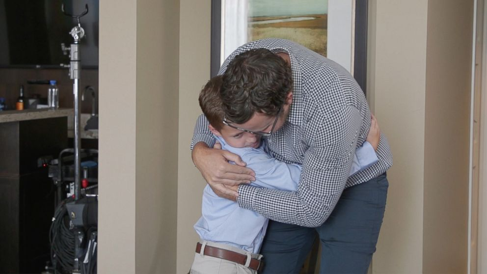 9-year-old in remission surprised by bone marrow donor who saved his life Video - ABC News