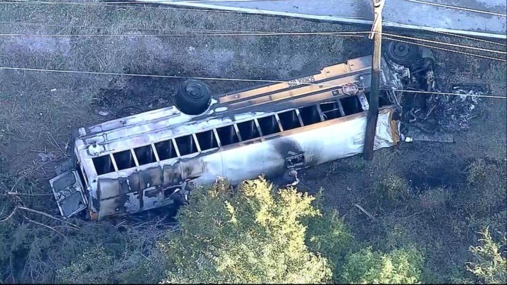 1 student dead after fiery school bus crash