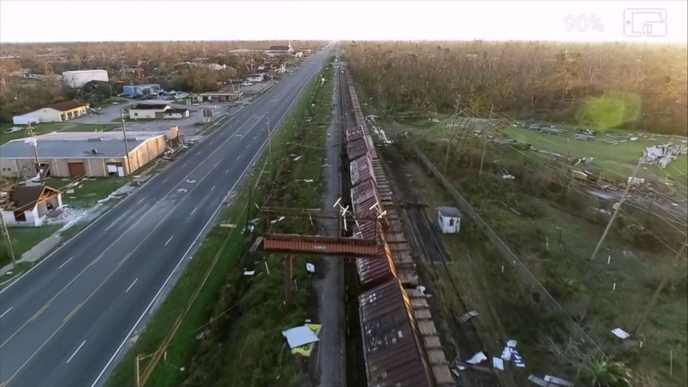 Drone footage shows Hurricane Michael's destruction Video - ABC News