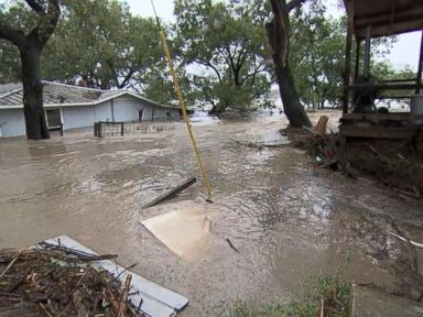 WATCH:  Near-record floods in Texas trigger evacuations, rescues