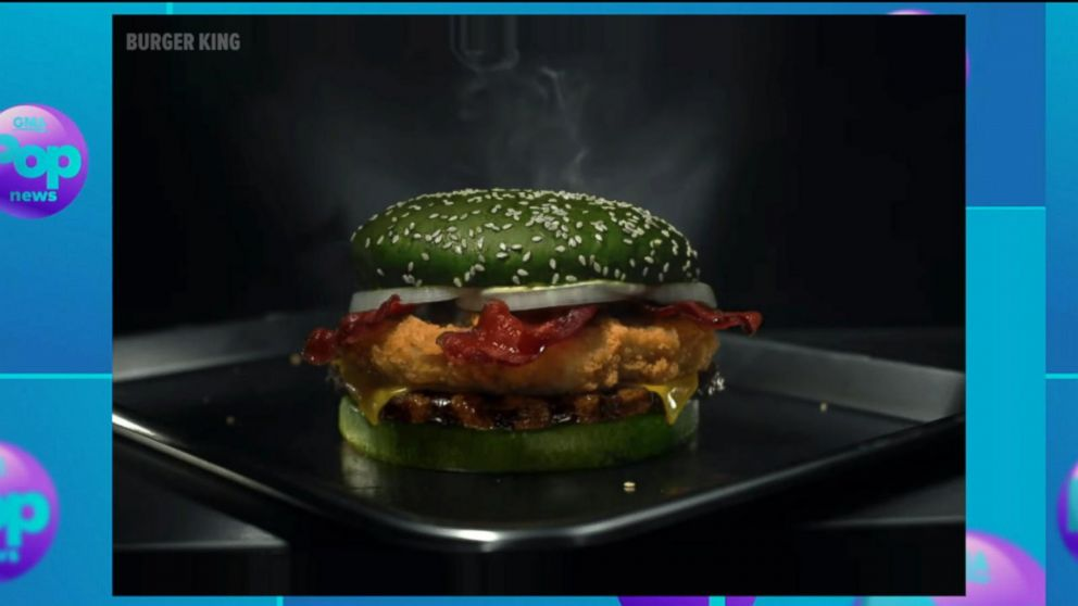 Halloween Hamburgers.Burger King Says New Halloween Nightmare Burger With Green