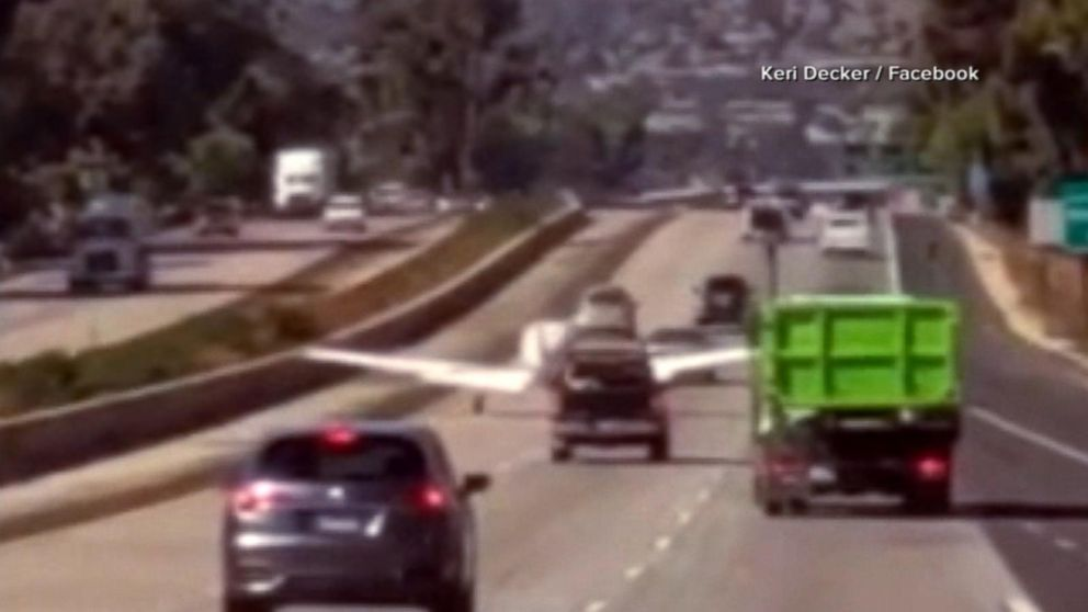 Plane makes emergency landing on a highway in California