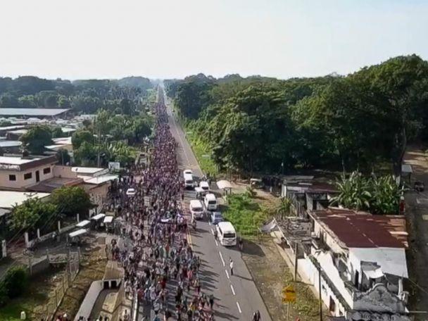 WATCH:  Inside the caravan of migrants en route to US border
