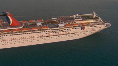Carnival cruise ship leaned at an angle and caused panic on board