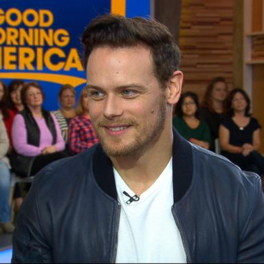 Outlander' heartthrob Sam Heughan aka #KiltDaddy visits Times Square