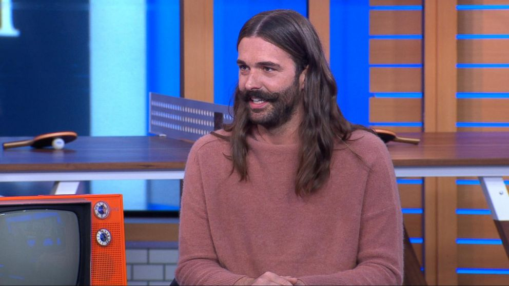 39 queer eye 39 star jonathan van ness shows off his 39 reality star side hustle 39 video abc news. Black Bedroom Furniture Sets. Home Design Ideas