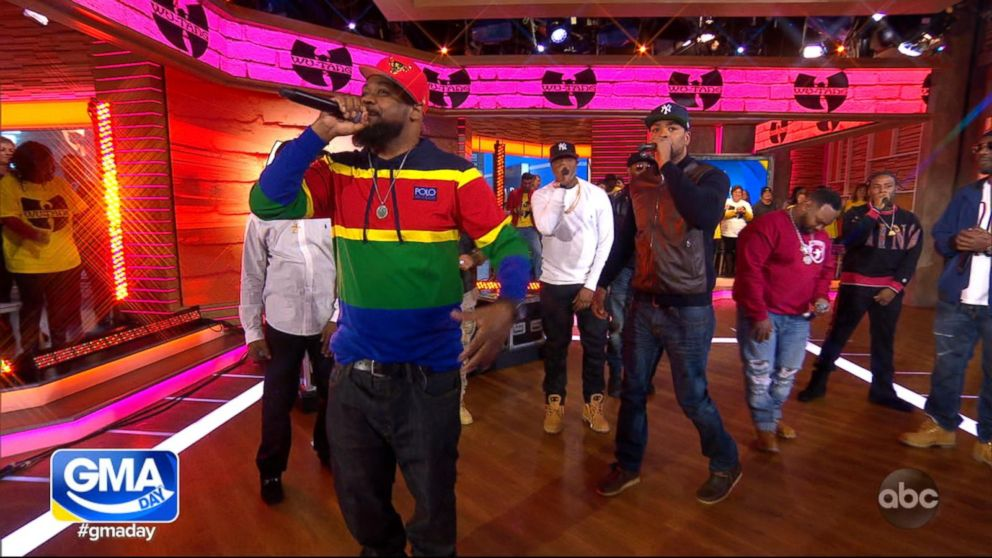 Wu-Tang Clan performs live in Times Square
