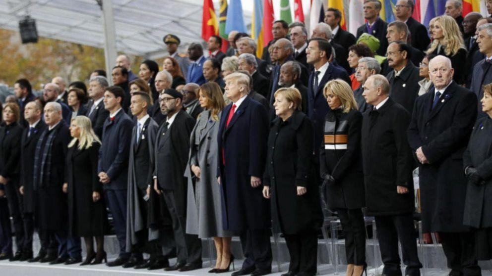Angela Merkel and Emmanuel Macron show liberal unity on Armistice Day as alt-right movements rise across Europe