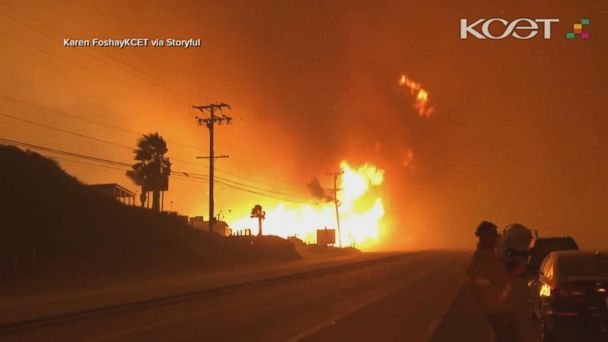Strengthening Santa Ana winds add fuel to fires