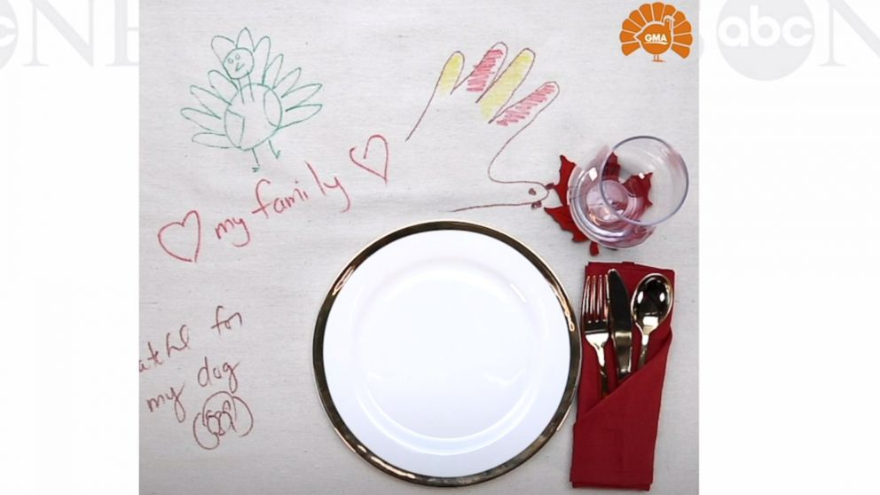 VIDEO: This DIY Gratitude Tablecloth will remind you to be grateful this Thanksgiving