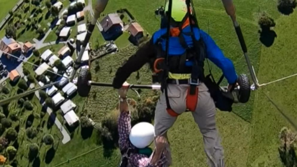 VIDEO: Hang-gliders attempt to save his life caught on camera
