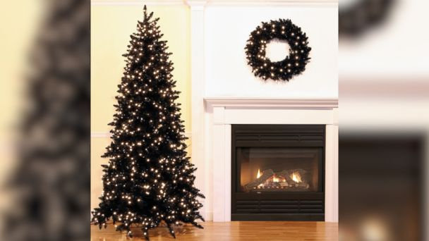 video black christmas trees are a hot holiday decorating trend really