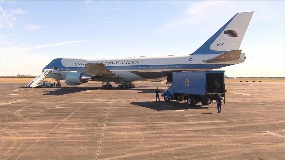 George H W  Bush's casket departs Houston aboard Air Force One