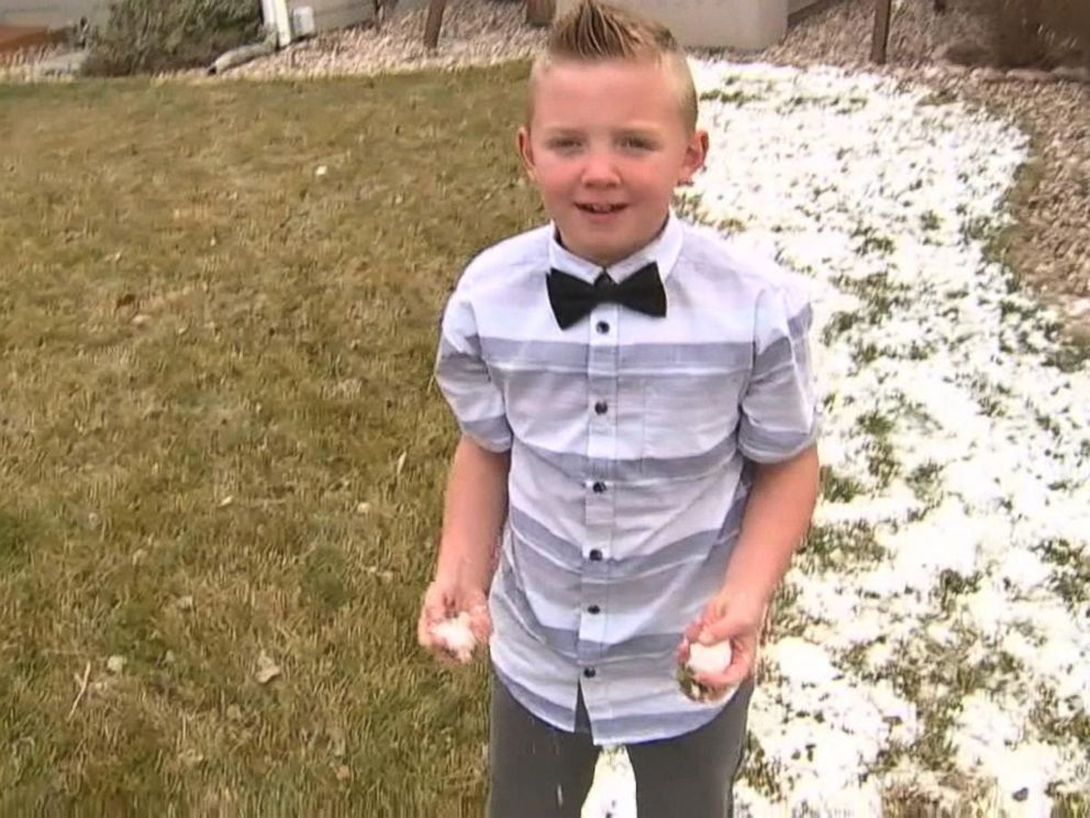 VIDEO 9-year-old gets Colorado town to lift snowball fight ban
