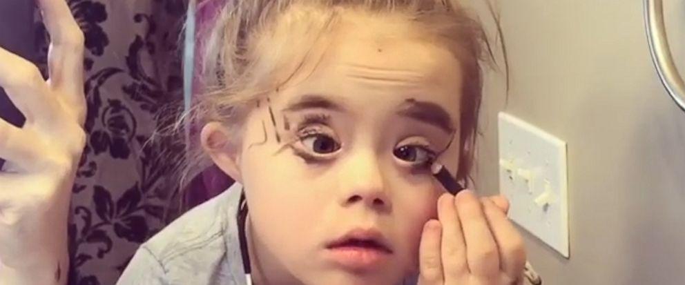 VIDEO: Little girl wears moms makeup and she is fierce