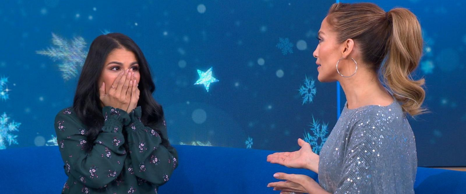 VIDEO: Jennifer Lopez surprises a super fan live on 'GMA'