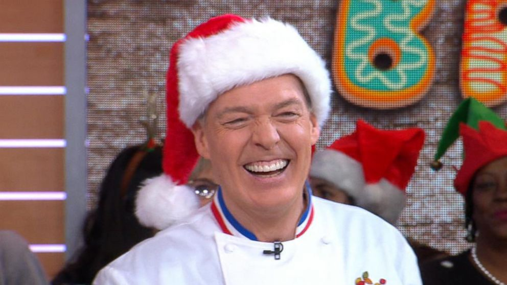 Celebrity chefs compete in Christmas cookie bake-off on 'GMA'