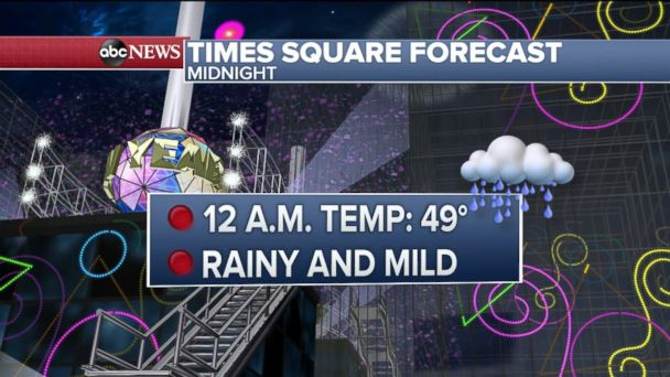 Storm to bring rain, wind to New Year's revelers in Times Square