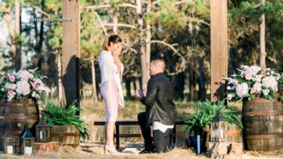 Tim Tebow And His Fiancee Former Miss Universe Demi Leigh Nel Peters Visit Disney World To Celebrate Engagement Abc News