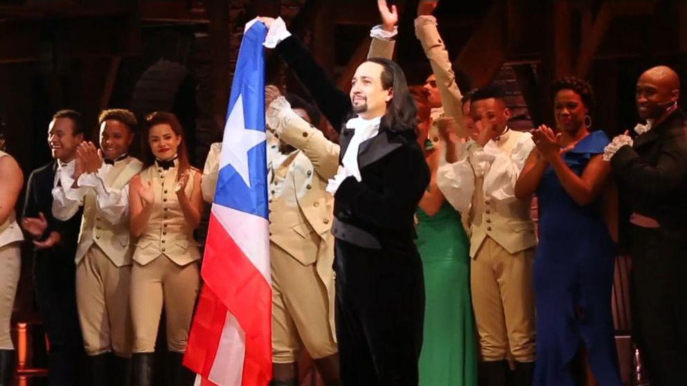 Lin-Manuel Miranda performs his Broadway smash hit 'Hamilton' in Puerto Rico