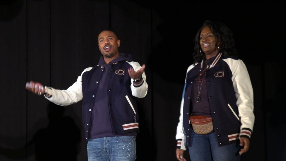 8ad54bbd1c2fdd Michael B Jordan surprises high school students in his hometown - ABC News