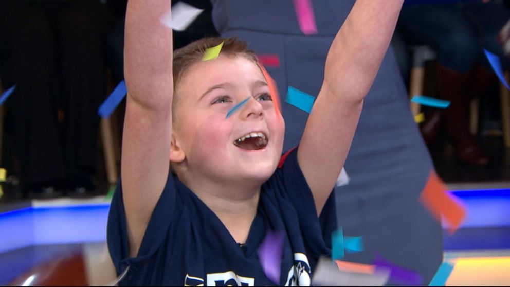765637d26 Alaska boy stunned to be picked as NFL Kid Correspondent for Super Bowl 53  - ABC News