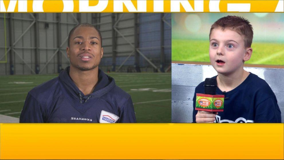 PHOTO: Tyler Lockett of the Seattle Seahawks shared a message for his biggest fan on GMA.