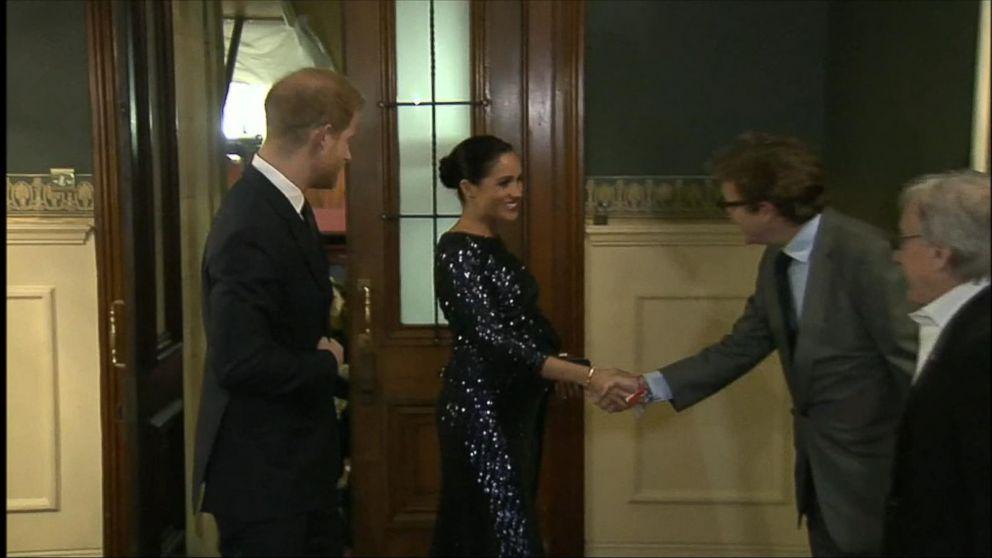Meghan Markle channels Princess Diana in striking sequin look
