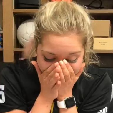 ddbcec02ebba Watch college athlete find out she's been awarded a full scholarship and  tell her mom