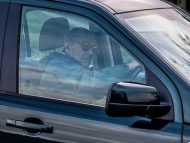 WATCH Prince Philip spotted driving after car crash