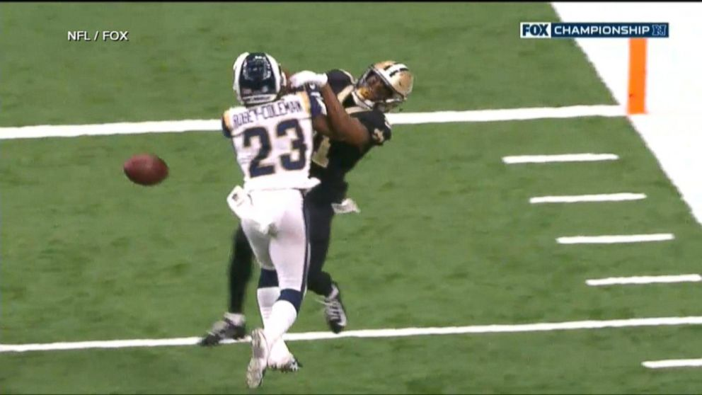 9d2ba7b0 NFL slammed over bad call in Saints playoff game