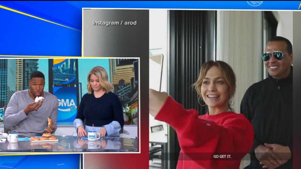 dc1f6d54ef JLo and A-Rod s health challenge to Michael Strahan Video - ABC News