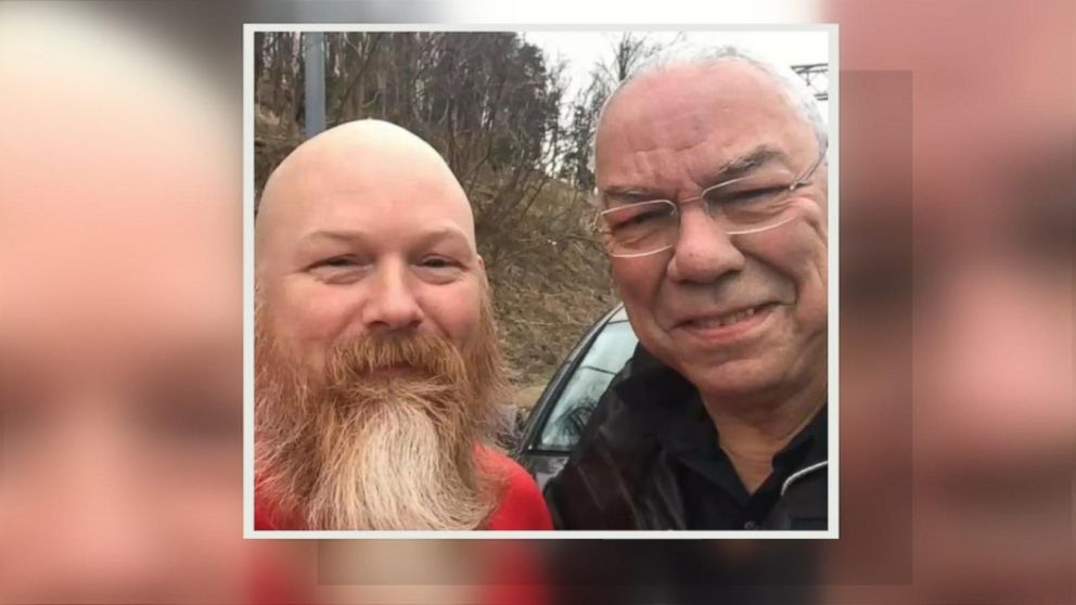 Wounded vet comes to Colin Powell's rescue