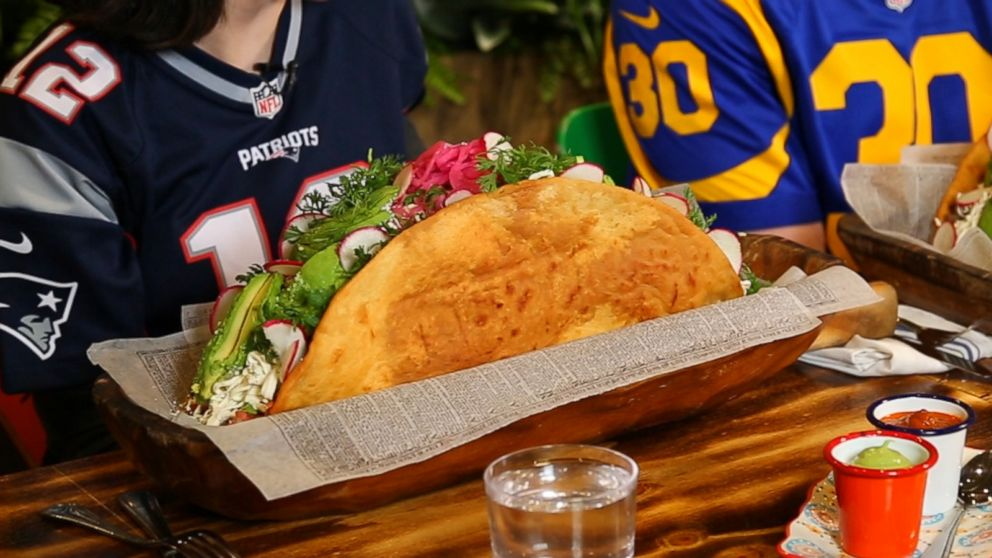 VIDEO: We tried a 12-pound taco youll want on the menu at your Super Bowl party