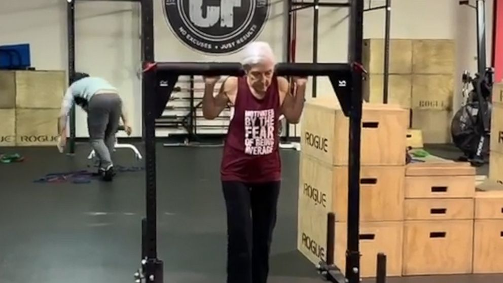 72-year-old woman who does CrossFit daily is serious #workoutgoals