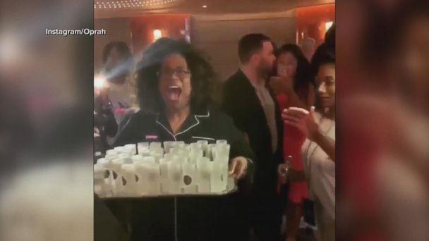 Oprah celebrates birthday on girls getaway cruise