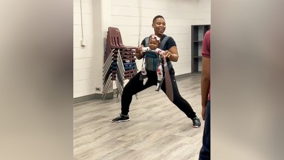 This 8-month-old baby is already a double dutch prodigy