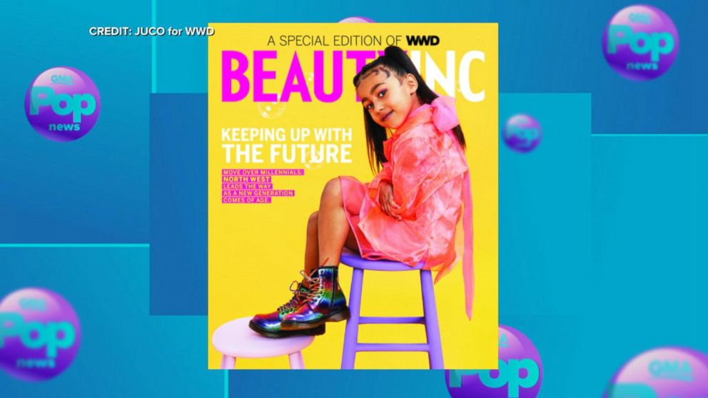 North West makes her cover debut striking a pose for WWD's Beauty Inc. Magazine