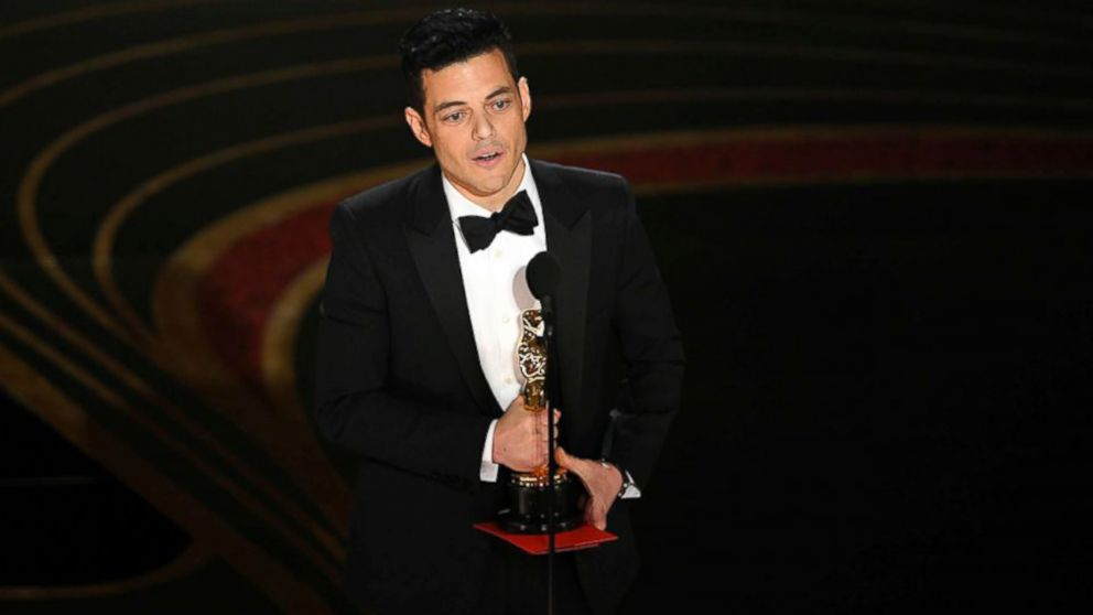 VIDEO: Rami Malek takes home an Oscar for best actor
