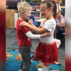 VIDEO: Young sweethearts share their very first dance on Valentine's Day