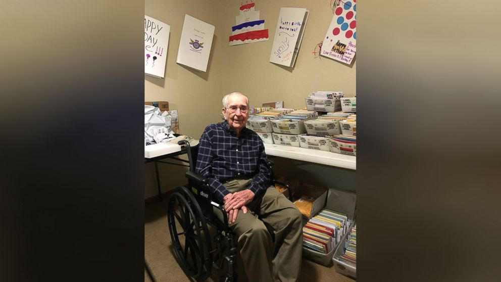 WWII Veteran Who Asked For 100 Birthday Cards His 100th Gets Thousands