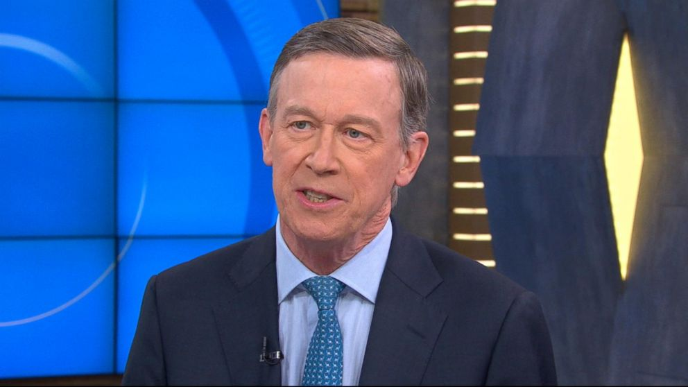 John Hickenlooper pushes his centrist message focused on reviving the middle class