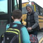 VIDEO: Surveillance video showed the moment Carolyn Goering saved an 8-year-old student who was choking on the bus.