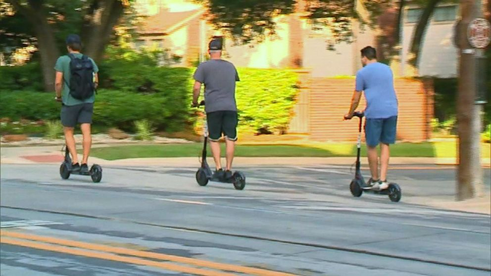 WATCH: Spike in injuries for riders using popular sharable electric scooters