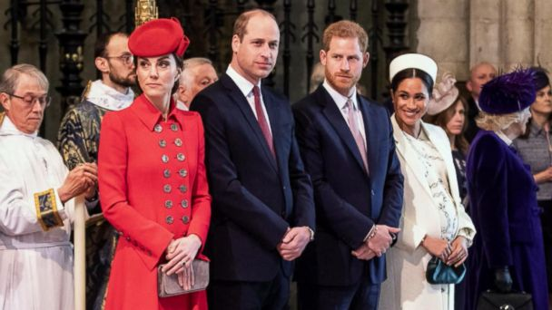 The royal 'Fab Four' step out for an outing with the queen