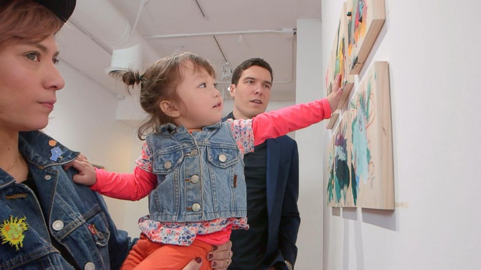 Meet the 2-year-old whose artwork is selling for over $1,000