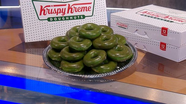 b0fa39ee6 Krispy Kreme celebrates St. Patrick's Day | GMA